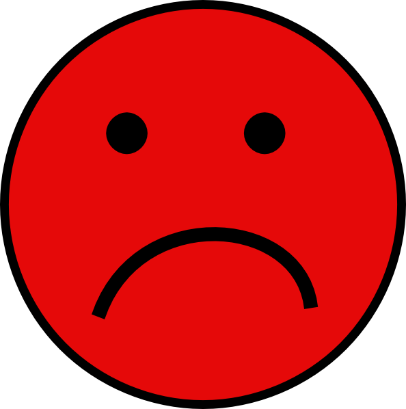 Red Sad Face Clip Art At Clker Com   Vector Clip Art Online Royalty