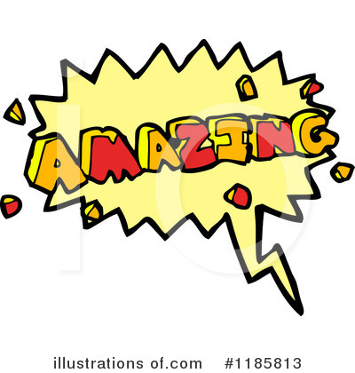 Royalty Free  Rf  Word Amazing Clipart Illustration By Lineartestpilot