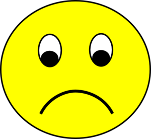 Sad Smiley Clip Art At Clker Com   Vector Clip Art Online Royalty