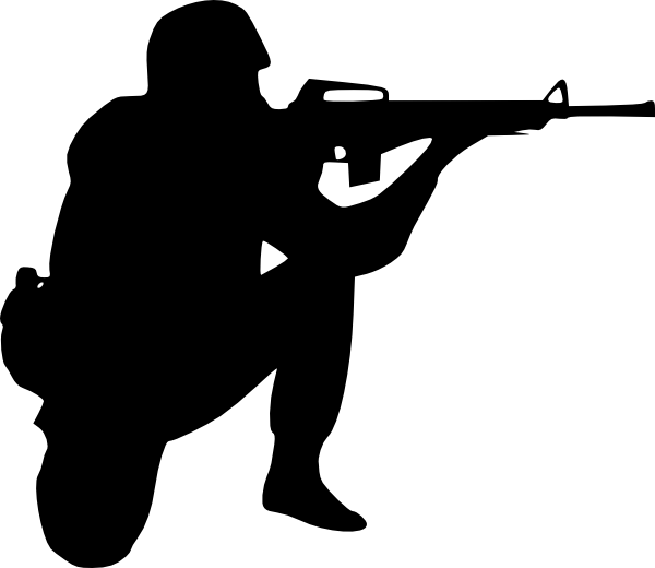 Soldier Aiming Clip Art At Clker Com Vector Clip Art Online Royalty