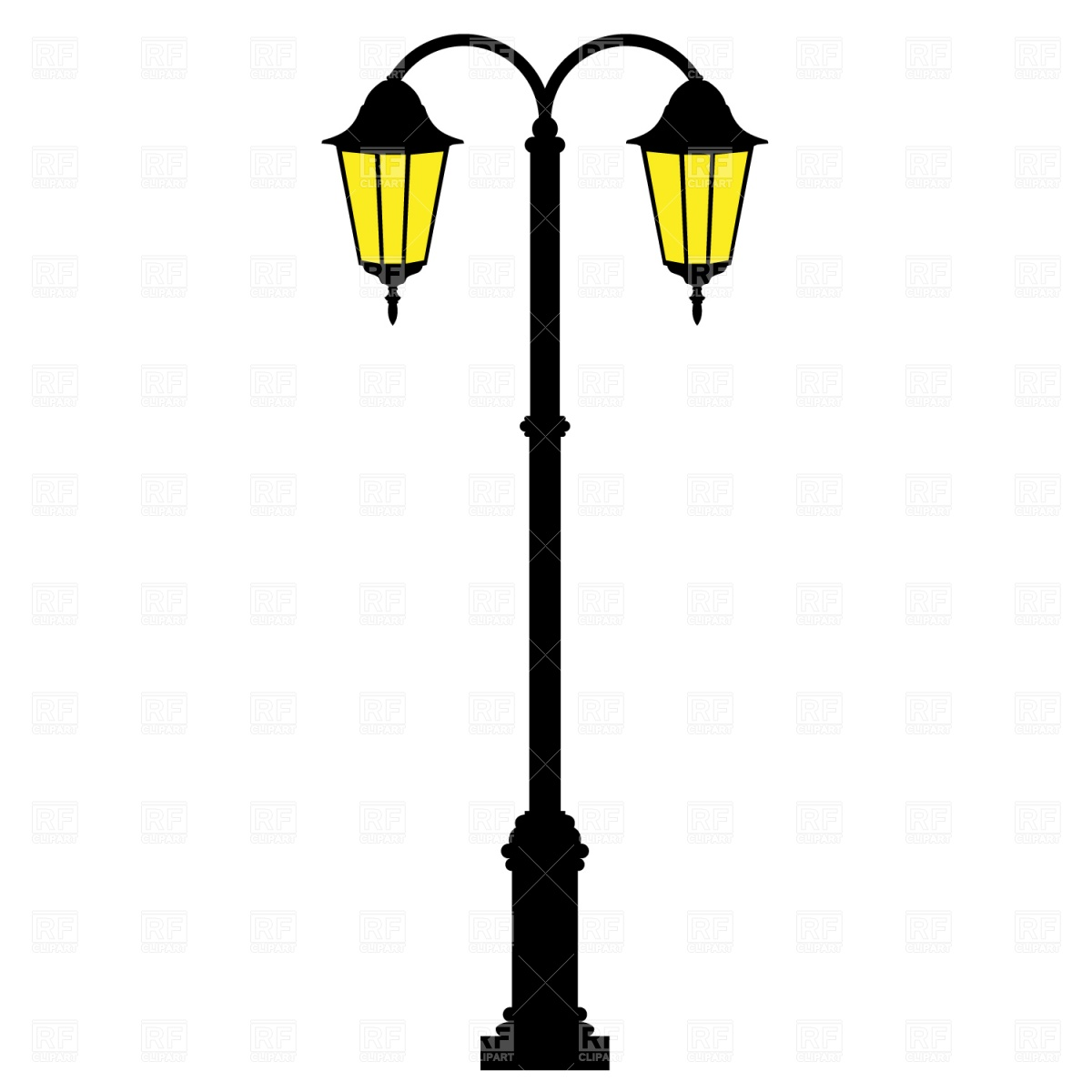 Street Lamp Download Royalty Free Vector Clipart  Eps