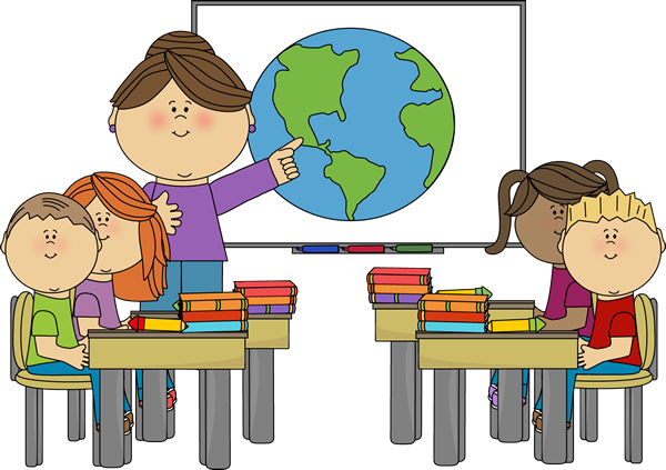 Teacher At Smartboard With Class Clip Art   Teacher At Smartboard With