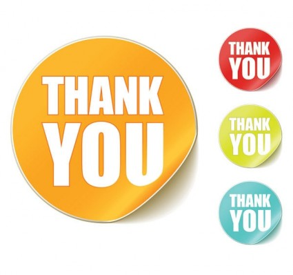 Thank You Clip Art Round Stickers Free Vector In Encapsulated