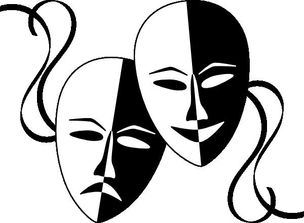 Clip Art Mask Clip Art clip art black and white mask clipart kid theatre masks at clker com vector online royalty