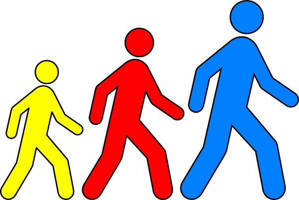 Walking Man Colors 1 Clip Art At Clker Com   Vector Clip Art Online