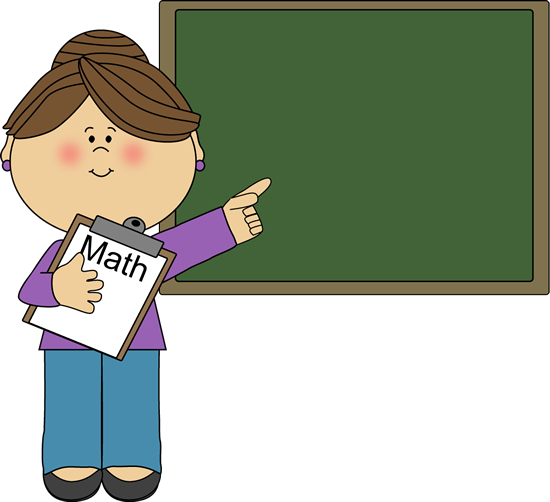 Woman Math Teacher Clip Art Image   Woman Math Teacher Holding A Math