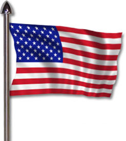American Flag Animated Clipart - Clipart Kid