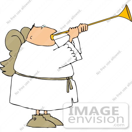 Angel With Trumpet Clipart - Clipart Suggest