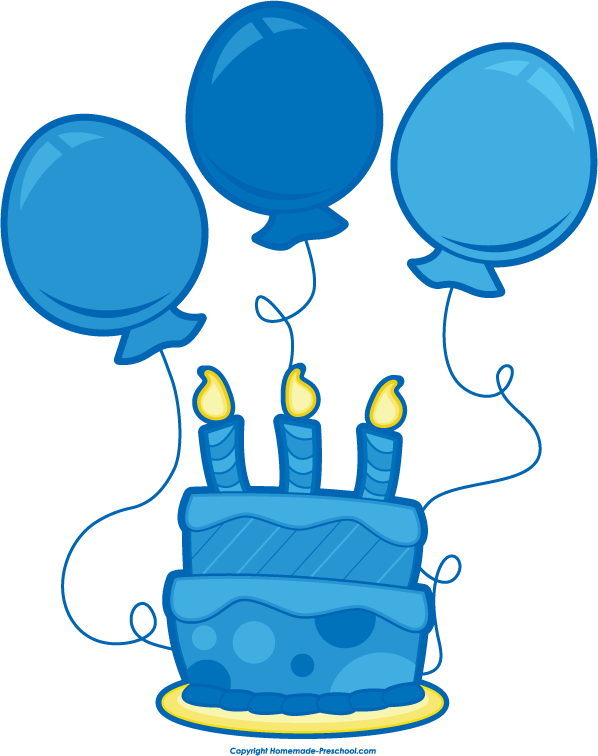 Blue Birthday Cake Clipart Clipart Suggest