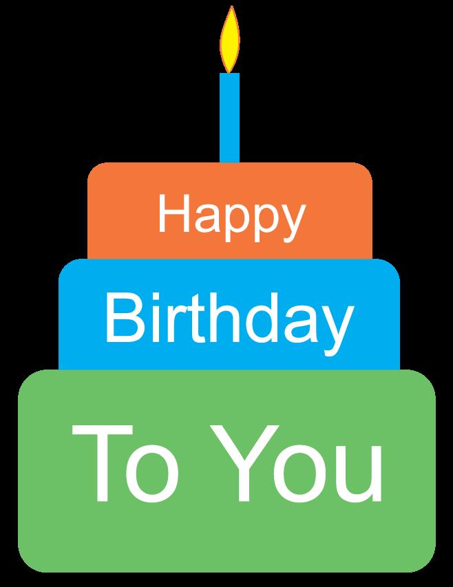 Happy Birthday Cake Clipart - Clipart Kid