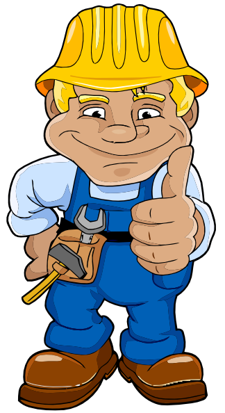 Blue Worker Clip Art At Clker Com   Vector Clip Art Online Royalty