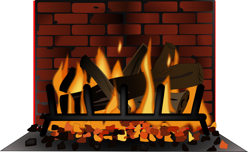 Fireplace And Logs Clipart - Clipart Suggest