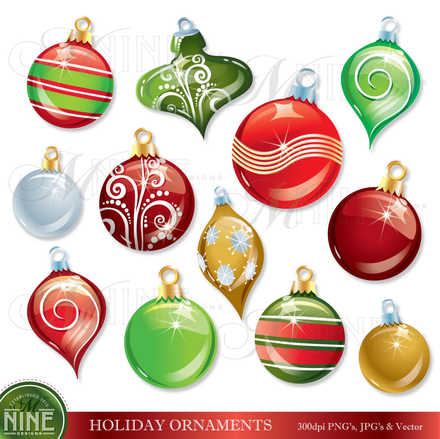 Christmas tree ornaments clipart suggest