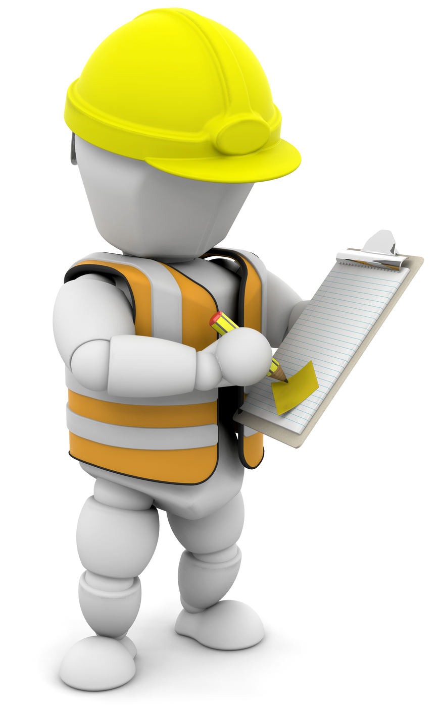 Clipart Illustration Of A White Character In A Hardhat And Vest