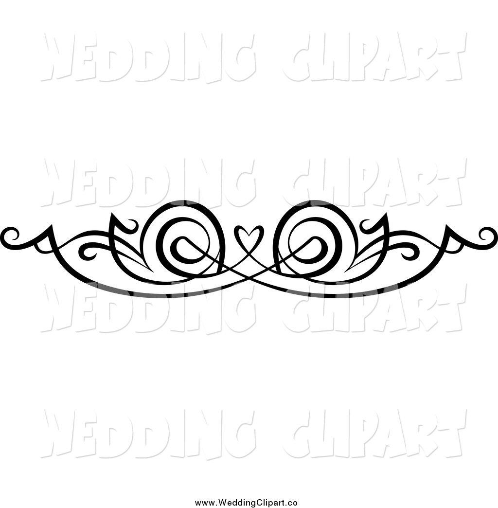 Clipart Of A Black And White Swirl Border And Image   School Clipart