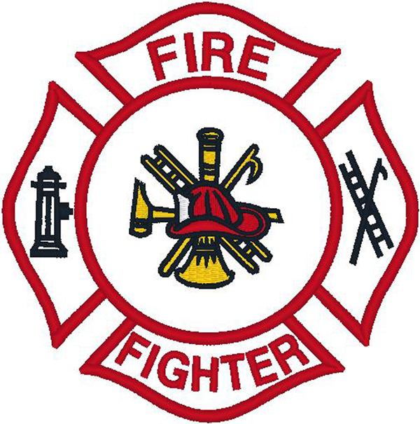 Firefighter Logo Clip Art Firefighter Emblem   Clipart