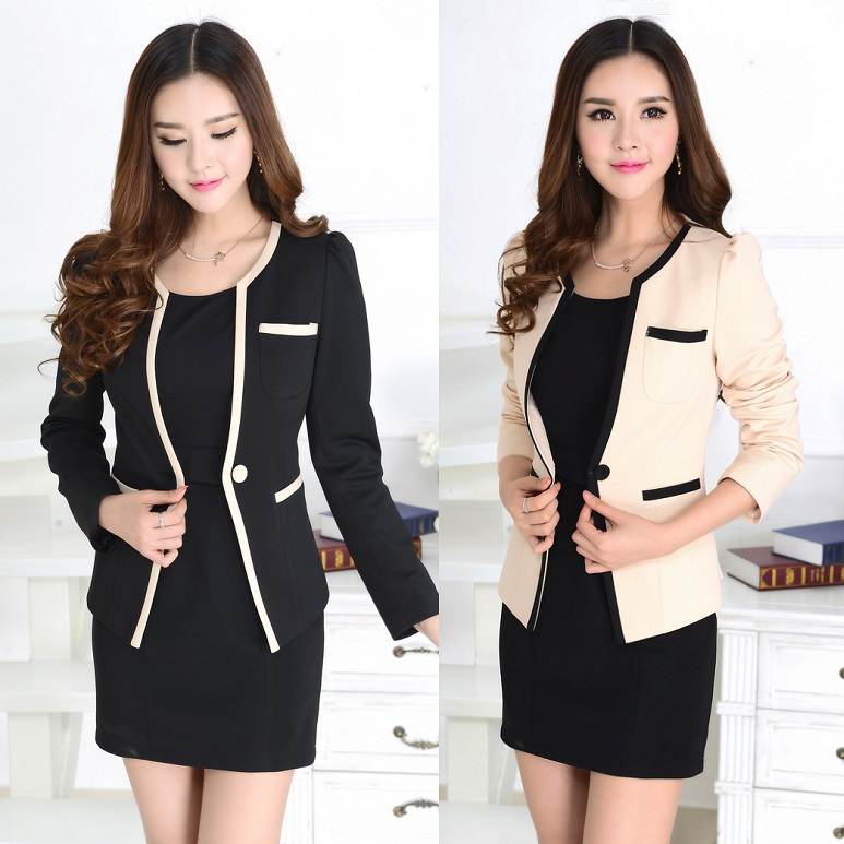 Formal Ladies Dress Suits For Women Business Suits Work Wear Blazer
