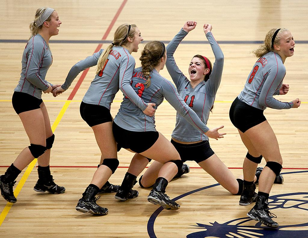 Frankenmuth Knocks Off Class B Volleyball Power North Branch In Five