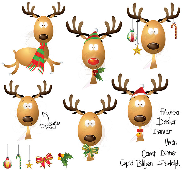 Christmas Reindeer Clipart Clipart Suggest