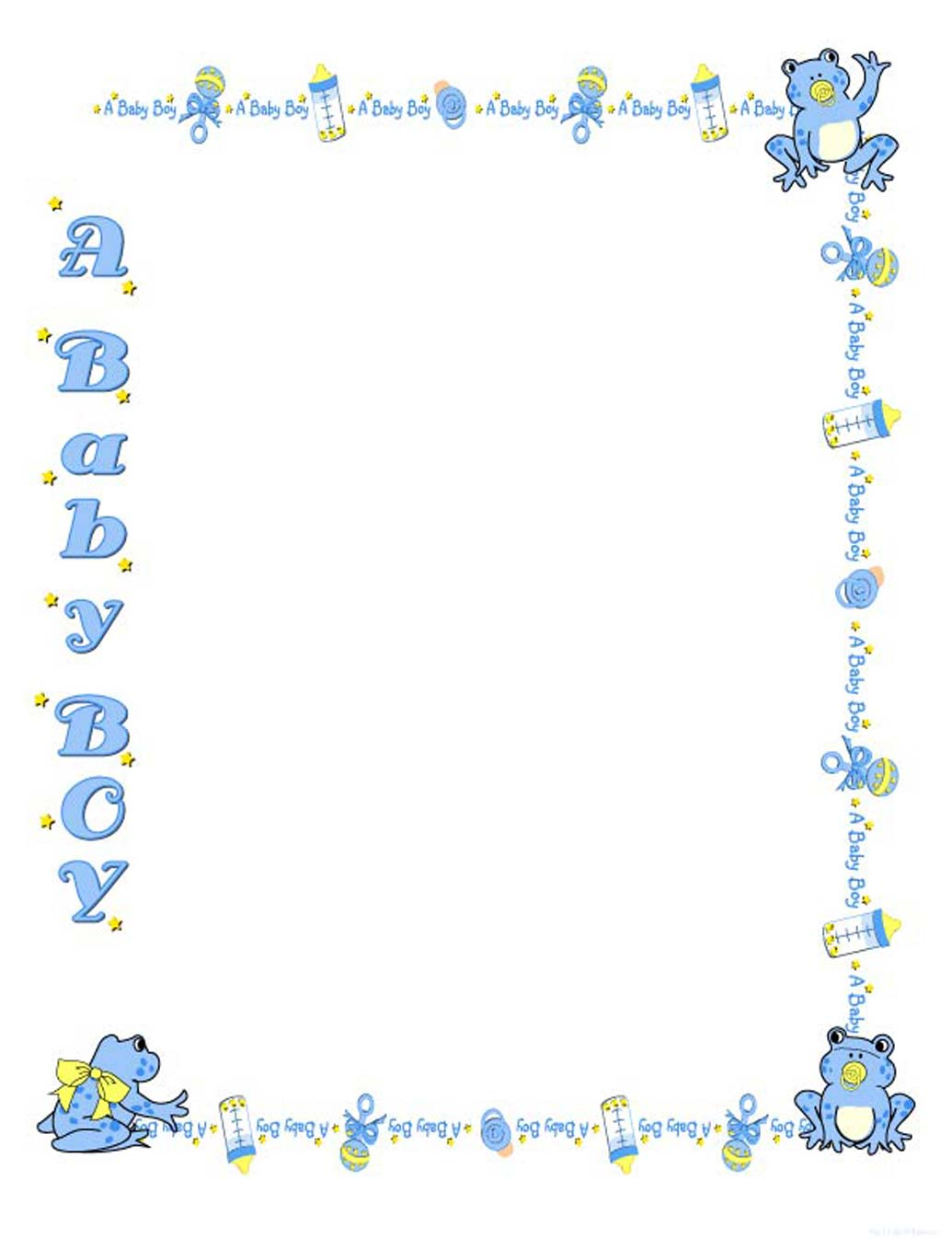 Baby Border For Word Clipart - Clipart Kid