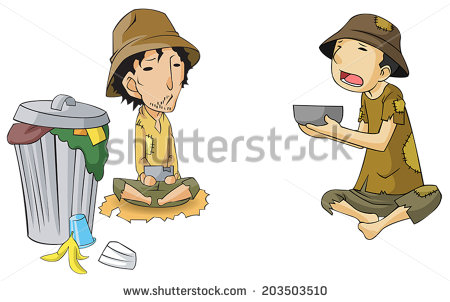 Giving Food To The Poor Clipart Poor Beggar Icon Collection