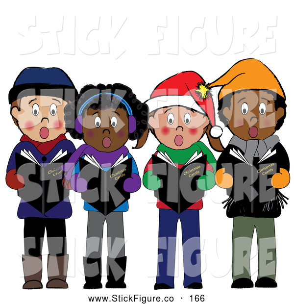 Group Of Children Singing Christmas Carols By Pams Clipart    166