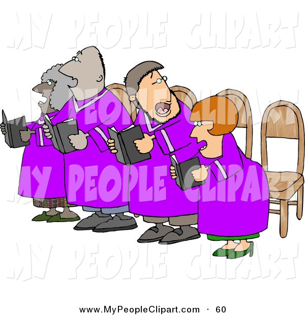 Group Singing Clip Art