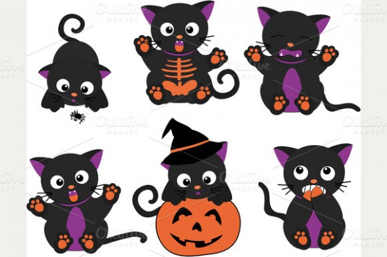 Clip Art Cute Halloween Clip Art cute halloween cat clipart kid design resources creative market blog
