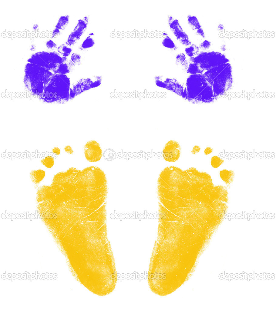 Hands And Feet Print   Stock Photo   Mtr980  8906816