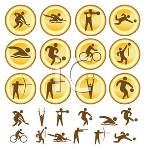 High School Sports Clipart Gold Sports