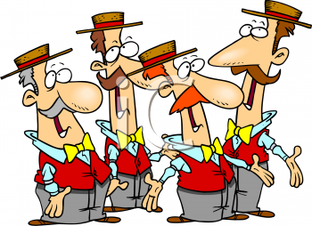 Male Group Singing Clipart - Clipart Kid