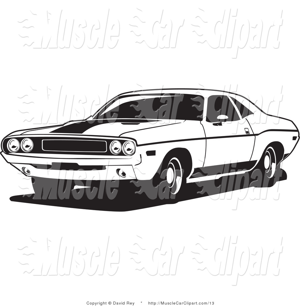 Muscle Car Clip Art   David Rey
