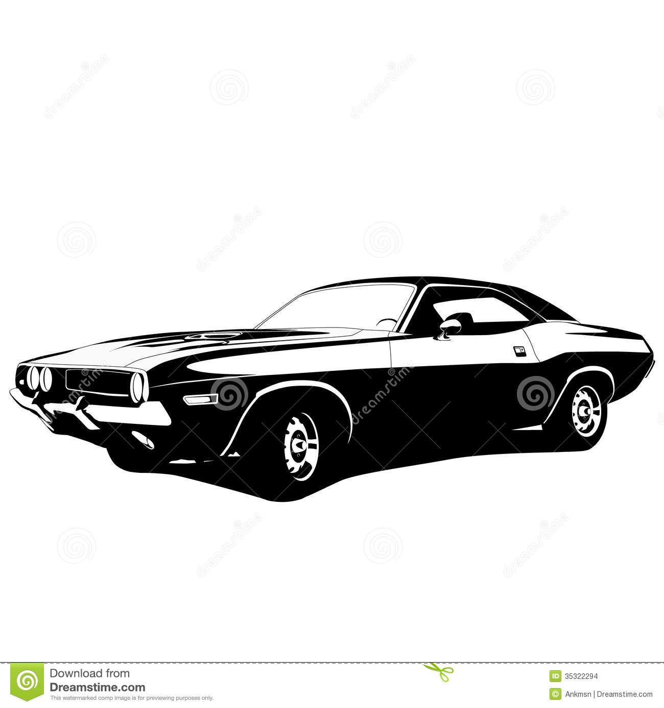 Muscle Car Profile Stock Images   Image  35322294