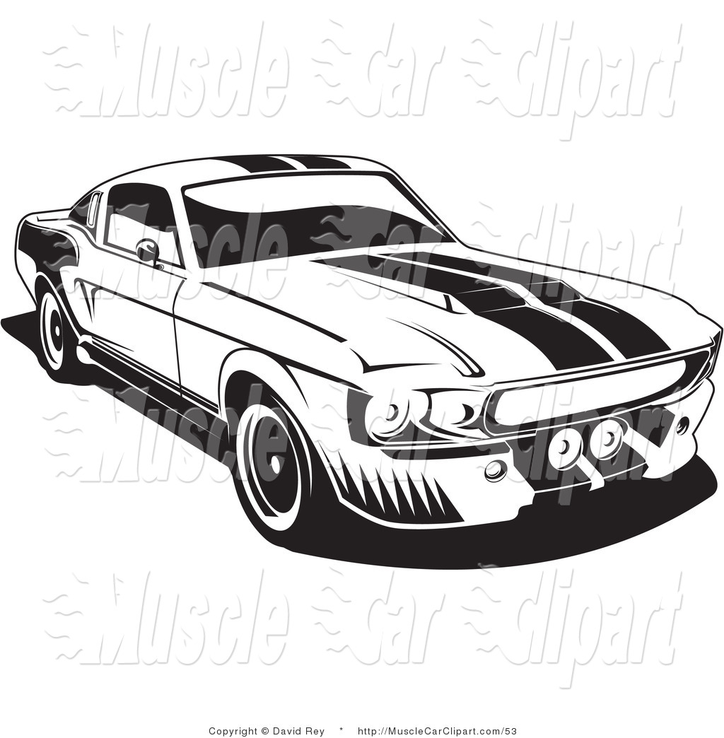mustang muscle car clipart