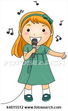 Pretty Girl Singing Clipart Clip Art   Singing Kid