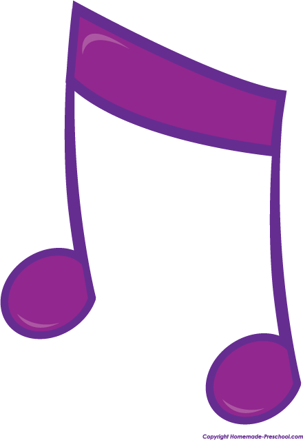 Purple Music Notes Clipart - Clipart Suggest
