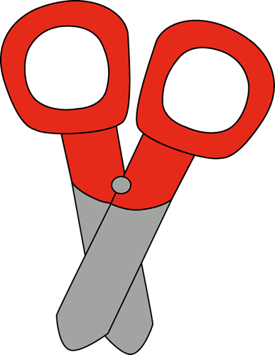 Red Scissors Clip Art Image   School Scissors For Kids With A Red