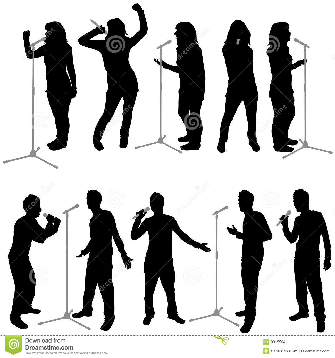 Singing People Vector Stock Images   Image  8315534