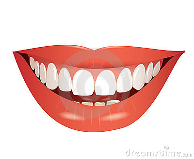 Smiling Mouth Isolated Illustration Stock Photos   Image  22948413
