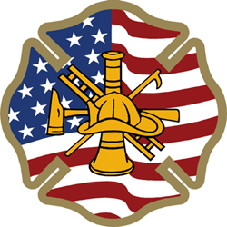 United States Flag Firefighter Logo Decal Firefighter Decals