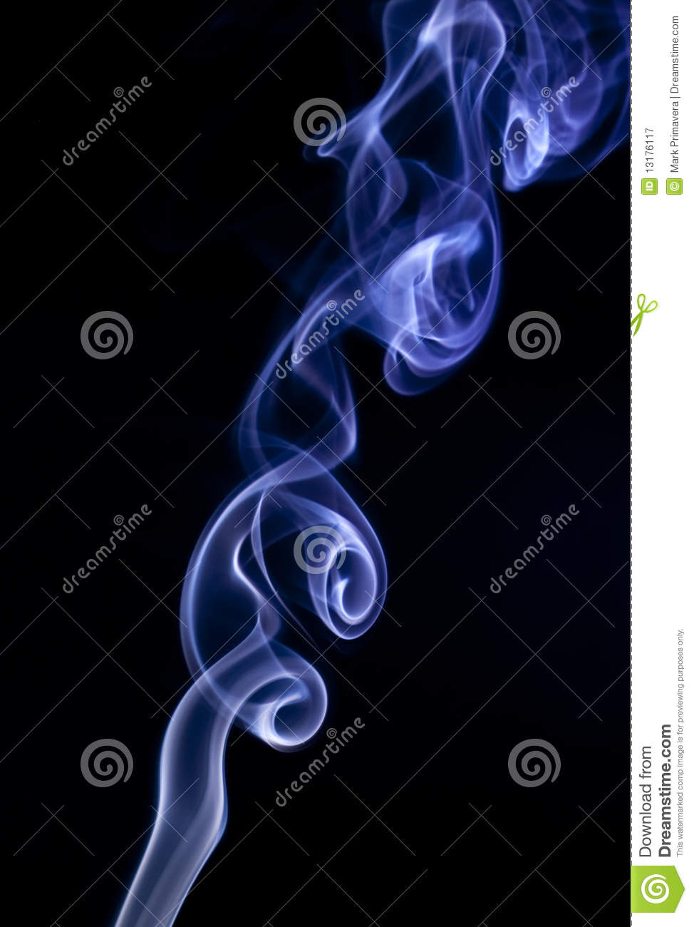 Artistic Blue Smoke Rings  5 Royalty Free Stock Photography   Image