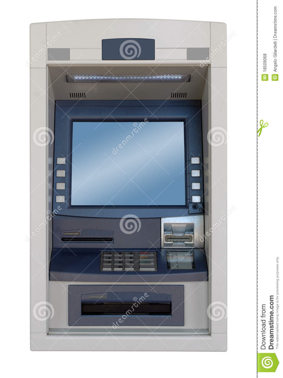 Atm Machine   Front View Royalty Free Stock Photos   Image  18509068