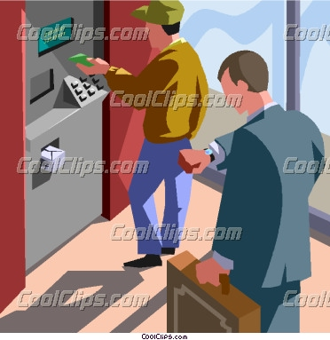Bank Teller Window Clipart Automated Teller Machine Atm
