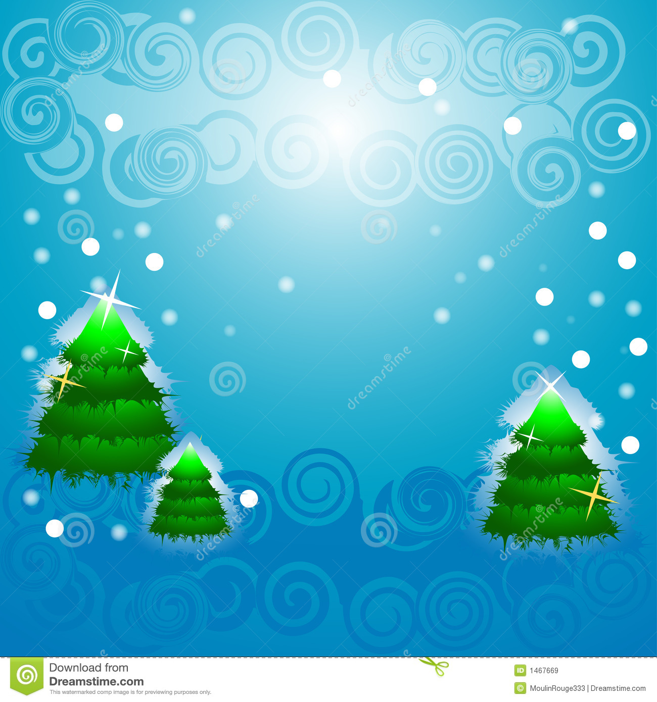 Christmas Tree Blinking Snow Royalty Free Stock Images   Image