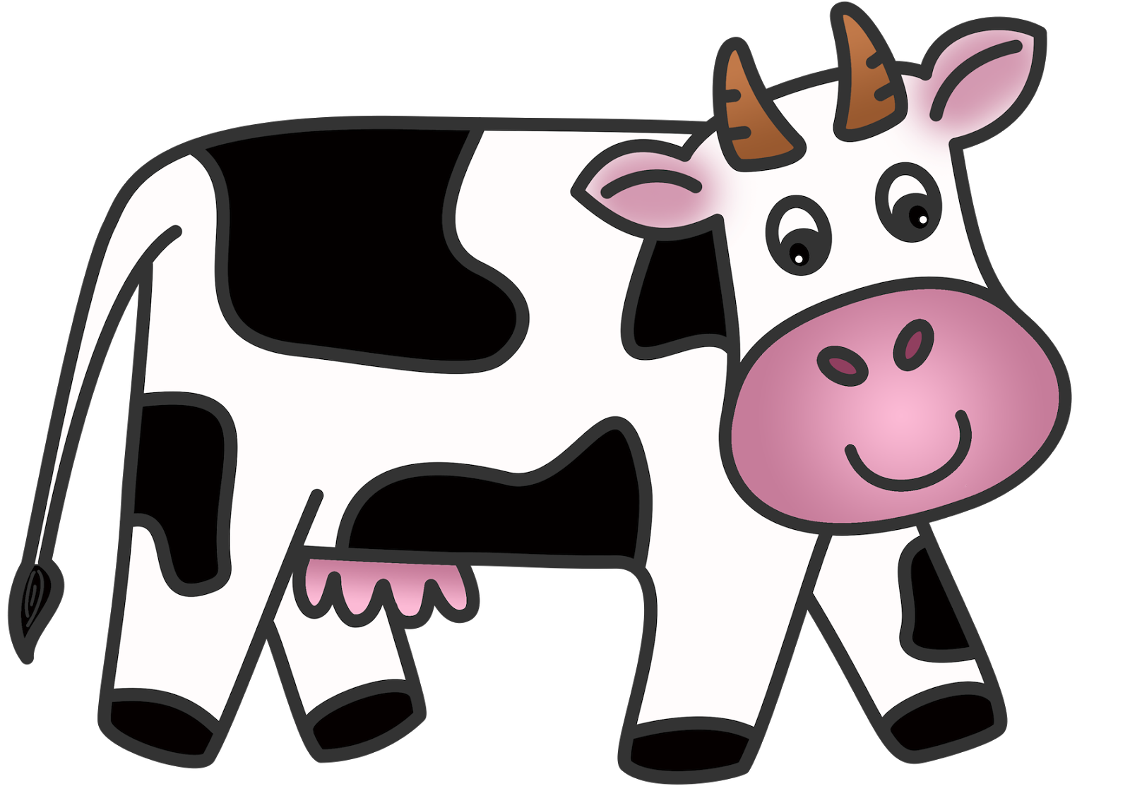 free clip art dairy cow - photo #8