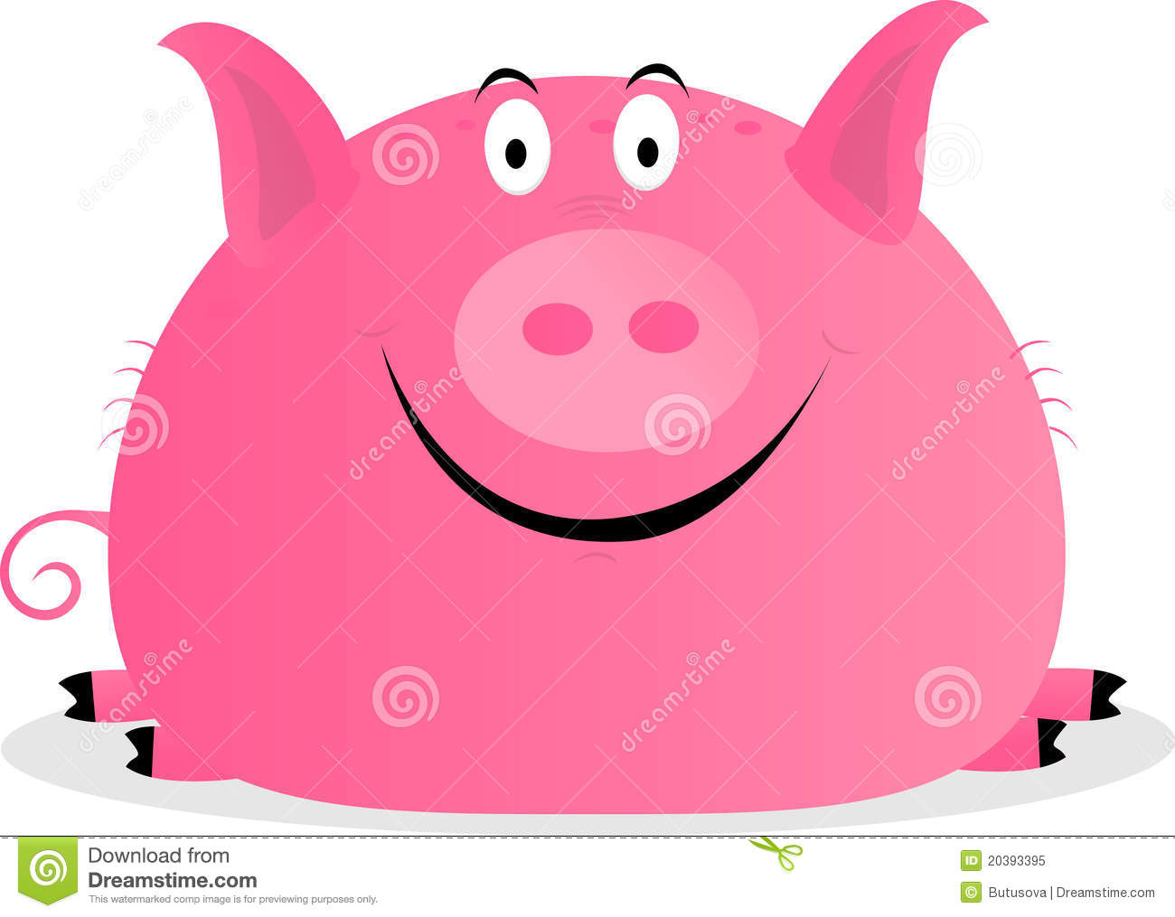 Cute Happy Pig Royalty Free Stock Photo   Image  20393395