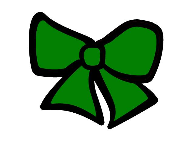 Green Cheer Bow   Free Images At Clker Com   Vector Clip Art Online