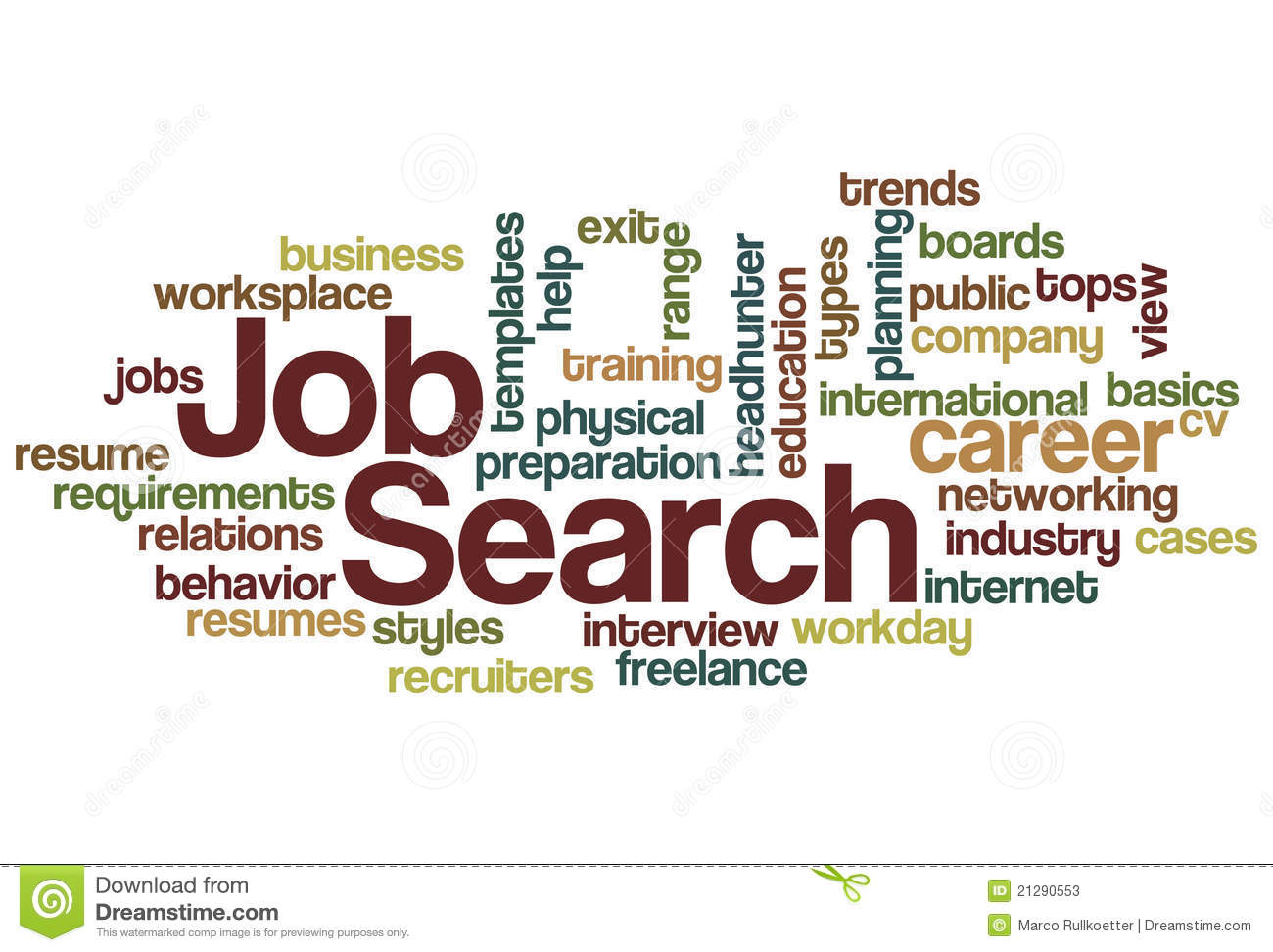 Job Search Word Cloud