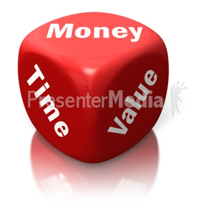 Money Time Value Red Dice   Home And Lifestyle   Great Clipart For