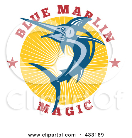 Royalty Free  Rf  Clipart Illustration Of Blue Marlin Magic Text